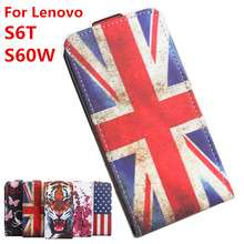 100% High Quality Leather Case For Lenovo S60 Flip Cover Case housing For Lenovo S60 W / S60 T Leather Cover Mobile Phone Cases(China)