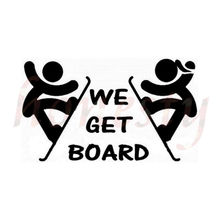 WE GET BOARD Ski Car Sticker Glass Bumper Laptop Notebook Window Wall Door Decal