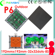 dot matrix p6 outdoor module rgb / outdoor advertising led board p6 full color module led good price in aliexpress