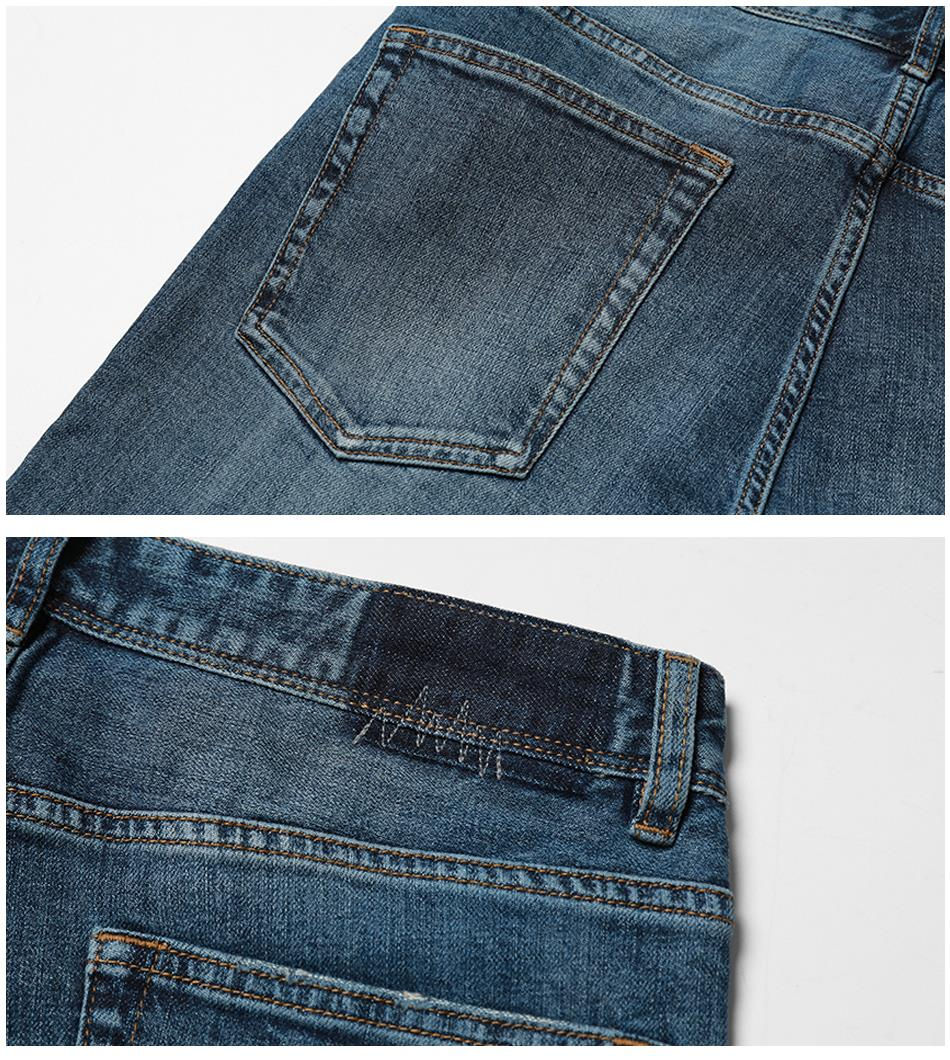 SIMWOOD 17 Autumn New Jeans Men Hole Ripped Slim Fit Denim Trousers Biker Jeans Skinny Brand Clothing High Quality NC017031 14