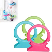 1 pcs High Quality Plastic Sucker Hair Dryer Stand Kitchen Bathroom Storage Rack Home Decoration New(China)