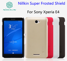 For Sony Xperia E4 case Nillkin Super Frosted Shield Cover Xperia E4 Phone Cases 5.0 inch And Screen Protector +Retailed Package
