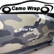 Urban Army Green Snow Camouflage Vinyl Wrap Motocycle Skateboard Car Truck Decal Camo Film Foil Stickerbomb With Air Drain