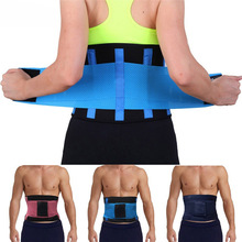 Waist Support Lumbar Corset Belt Back Braces Breathable Treatment of Disc Herniation Lumber Muscle Strain Black Blue Red(China)