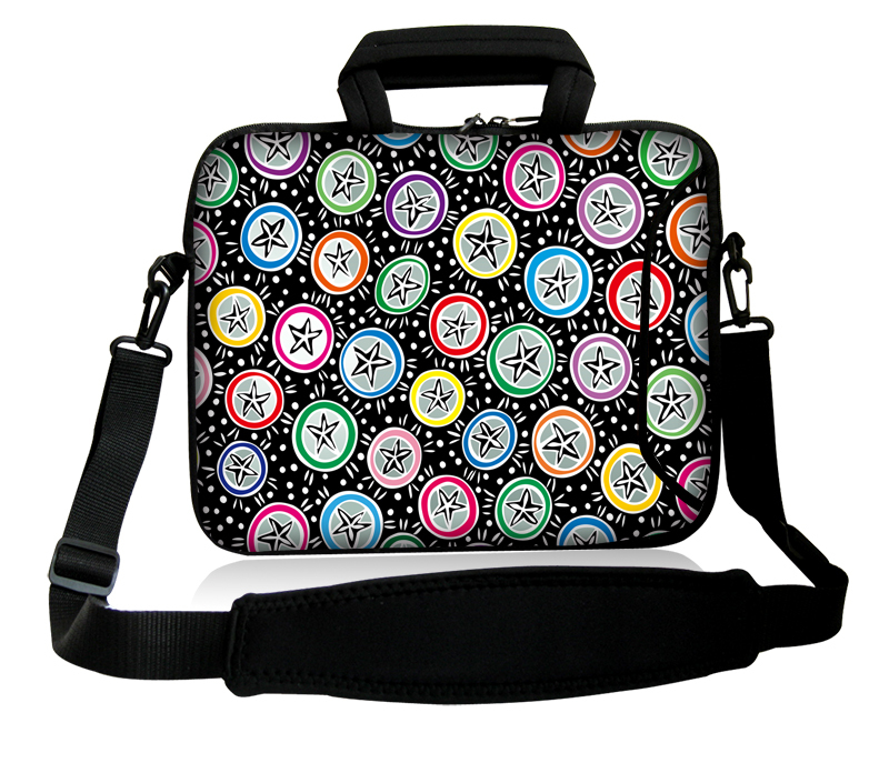 "Neoprene Starfish Pattern 10""13""14""15""17'' Computer Handle Sling Portable Cover Case Netbook Messenger Baldric Bag For IBM BenQ(China (Mainland))"