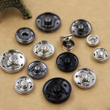 Wholesale 100Sets 12-15mm Metal Invisible Snap Buttons For DIY Garment Accessories Silver/Gun Black/Black Color