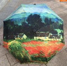 2017 Free shipping Traditional Chinese Oil Painting Umbrella For women Art umbrella creative umbrella for men