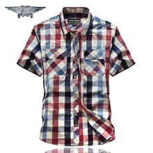 Buy 2018 New Mens Plaid Shirts Short Sleeve Cotton Mens Casual Shirts Turn-down Collar Mens Dress Shirts #8512 for $18.77 in AliExpress store