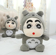 35cm Crayon Shin Chan Crayon mascot plush toy doll Totoro Plush Toys doll hat can take off  Best Gift 1pcs