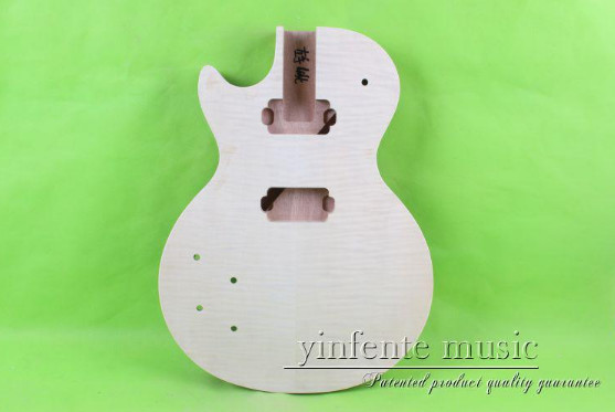 one  set  left  unfinished guitar neck  and  body  mahogany made  and  maple top body<br><br>Aliexpress