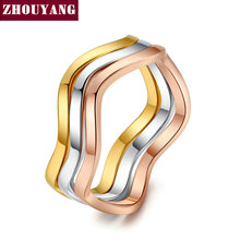 Top Quality ZYR178 Three Crimp Love Lucy Family Mix Colors Fashion Jewelry Ring Sets Full Sizes Wholesale(China)
