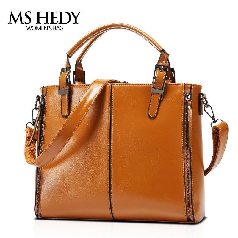 MS HEDY Womens Shoulder Messenger Bag New Portable Handbag Bag Rivet Vintage PU Leather Female Handbag Fashion<br>