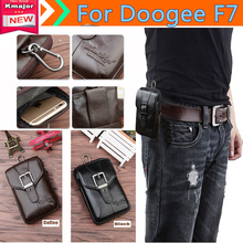 Genuine Leather Carry Belt Clip Pouch Waist Purse Case Cover for Doogee F7 Phone Bag /Cell phone Case Free  K3225