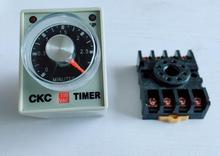 AH3-3 Time relay AC220V Delay Timer Time Relay 8Pin with base 6S 10S 30S 60S 3M