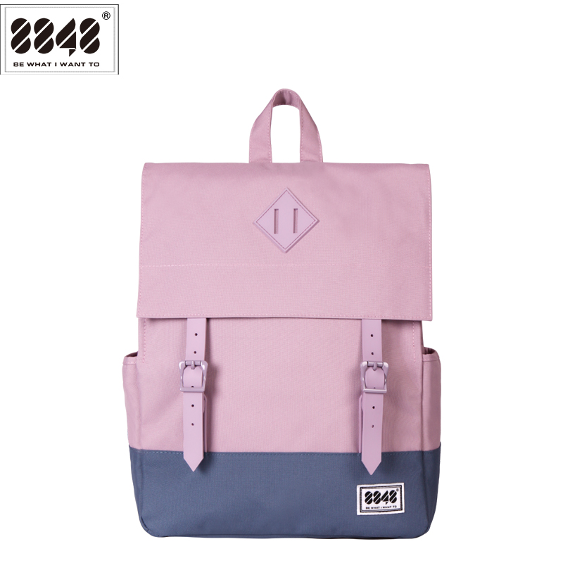 8848 Brand Women Backpack Preppy Style 2017 Spring New  School Student Bag Backpacks Knapsack Female 15.6  Laptop 173-002-013<br>