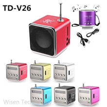 Bluetwos TD-V26 Portable Radio Speaker With LCD Display Support Micro SD/TF Music Player Digital FM Compatible With Laptop Phone