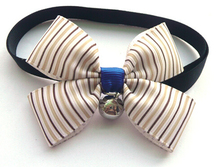 Dog cat bow tie pet collars with bell supplies adjustable Teddy dog neckties colorful best gift