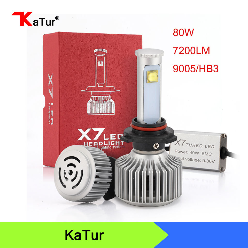 80W/set 3600Lm X7 9005 HB3 Led Headlight Conversion Kit Auto Car Replacement Fog Lights Head Lamp 6000K White DRL Plug&amp;play<br><br>Aliexpress