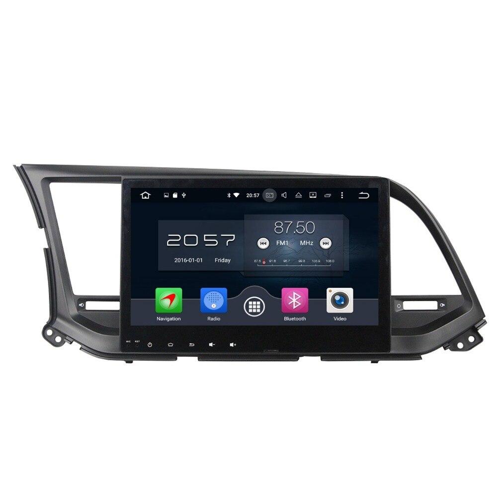 1024*600 Octa Core 10.1″ Android 6.0 Car DVD GPS for Hyundai Elantra 2016 With 2GB RAM Radio Bluetooth WIFI 32GB ROM Mirror-link