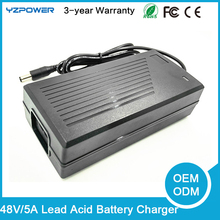 YZPOWER 48V 20AH 4A Lead Acid Battery Charger For Electric Bike Scooters