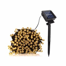 22m 12m 7m Solar LED String Lights Patio Lawn Lighting Garden Holiday Christmas Decor Waterproof Led Solar light outdoor Lamp(China)