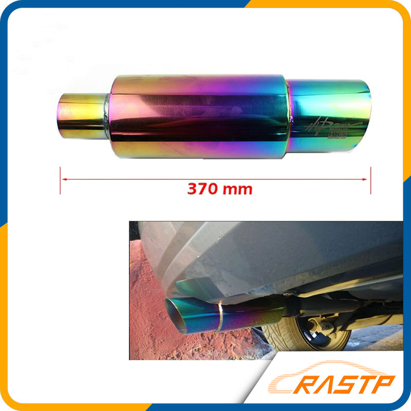 RASTP - Hi Power Universal 304 Stainless Steel Exhaust Pipe Racing Muffler Tip Car Exhaust Pipe LS-CR1002(China (Mainland))