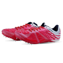 men women spikes running shoes long or short dash sprint sports shoes breathable ultra light track field trainer athletic shoes