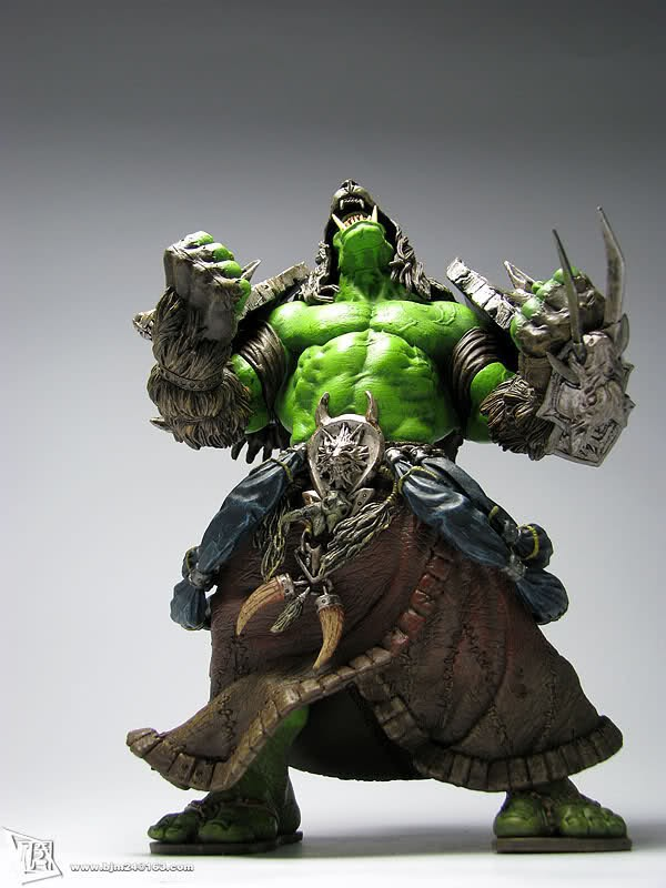 Savage ORC Shaman Rehgar Earthfury 21cm PVC Action Figures Toy Model Gift<br>