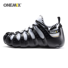 Onemix Rome shoes gladiator set shoes men & women running shoes jogging sneakers outdoor walking shoes sock-like sneakers 1230(China)