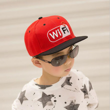 2017 popular Letter WIFI Brand Boy Baseball Cap Hip Hop Childen Girls Straight Hat Summer Full Cap