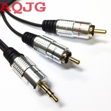 3M  PURE 3.5mm Stereo Audio Jack to 2 RCA Twin Phono Plug 24K Gold Cable Lead OFC 3.5mm male to 2RCA male cable  3m