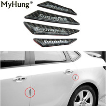 4pcs/lot Car door anti-collision bar / strip for Hyundai All New Santafe antifriction Protection Glue Stickers