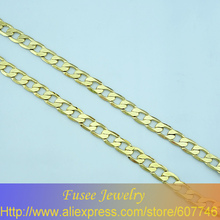 Copper 18K gold plated chain necklace freeshipping 41804210060/41804212060(China)