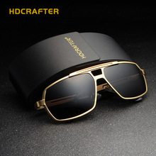 [HDCRAFTER] Classic Aluminum Magnesium Men's Sunglasses Polarized Driving Glasses Male Eyewear Accessories Goggles E026