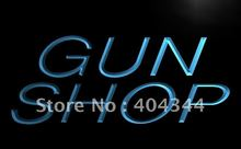 LB441- Gun Shop Display Store NEW NR   LED Neon Light Sign    home decor shop crafts