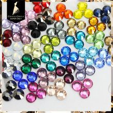 Crystal Castle AAAAA SS20 4.6-4.8mm Mix 4Color Flatback Crystal Strass Stone Hot Fix Rhinestone Hotfix For Bridal Women Dress(China)