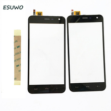 "ESUWO Touch Panel For Homtom HT3 Touch Screen Glass For Homtom HT3 5.0"" Touchscreen Front Glass +Tape"