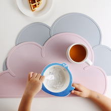 Cute Cloud Shaped Silicone Placemat Heat Resistant Dining Table Mats Baby Kids Plate Mat Home Bar Kitchen Pads Table Accessories(China)