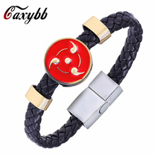MOSU Hot Animation Sharingan Alloy Bracelets Naruto Weave leather bracelet & Bangle cosplay jewelry sell like hot cakes