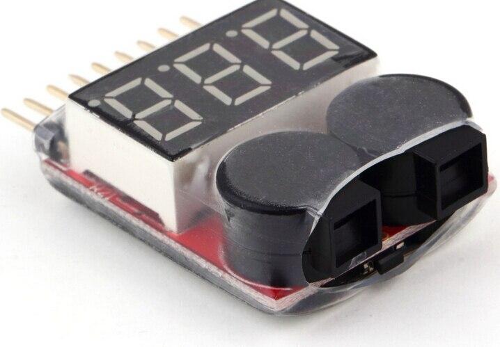 1pcs/lot Lipo Battery Voltage Tester volt meter monitor buzzer Alarm 1-8s3.7V-22.2V <br><br>Aliexpress