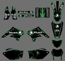 new style 0452 Dark green TEAM GRAPHICS & BACKGROUNDS DECALS STICKERS Kits for Kawasaki KLX450 KLX 450 2008 2009 2010 2011 2012
