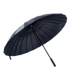 Large men umbrella Rain Women Windproof male Walking Stick Umbrellas Men rainbow Golf Sun Paraguas Colorful ZW-GU02(China)