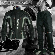 NEW DUHAN D-023 Men's Motorcycle riding suit Racing jacket racing pants suit With removable liner and soft brace(China)