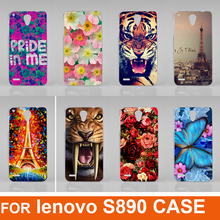 Buy New Fashion 14 patterns Colorful flowers animals eiffel tower Cool Cell Mobile Phone Case Lenovo S890 back cover for $1.50 in AliExpress store