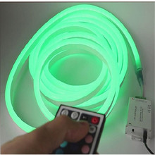 200-240VAC 10m/roll remote control RGB Neon flex tube ,5050 72 led color changing  neon tape light for decoration and holiday