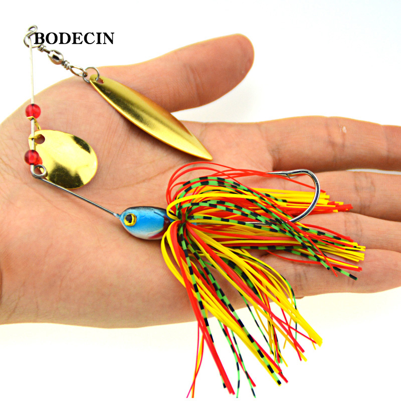 1PS Fishing Lure Wobblers Lures Wobbler Spinners Spoon Bait For Pike Peche Tackle All Artificial Baits Metal Sequins Spinnerbait (4)