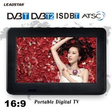 Leadstar,7 inch 16:9 TFT DVBT2/DVBT Digital & Analog Mini led  Portable Car TV all in 1 Support USB TF card Record TV Program
