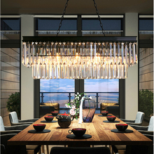 LEDream American, wrought iron chandelier, modern crystal restaurant sitting room the bedroom light creative lamps