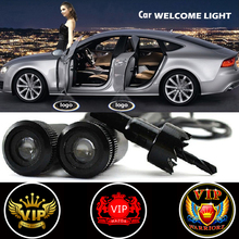 2 X Car Door Light Laser Welcome Ghost Shadow Projector VIP Logo Light for Bmw Audi Polo Vw Skoda Ford Focus Lada Opel Renault