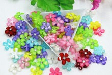100pcs/lot flat back resin small size flowers mix colors  DIY resin cabochons accessories 12mm